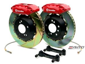 Brembo Front GT Brake 4pot Red 328x28 Slot Civic 06-11 FG1 FG2 FA1 FA5 04-05 EP3