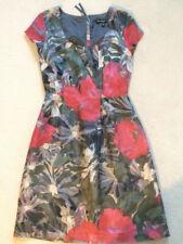 Banana Republic dress: MadMen collection grey& red print cap sleeve Size 12