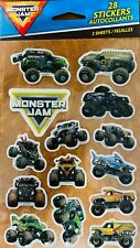 Monster Jam Stickers NEW Sealed Free ship 2 sheets Grave Digger Max D