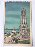 New York City NY Riverside Church & Grant's Tomb 1940's Vintage Linen Postcard