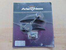 Arlen Ness Short stem Tear drop Mirrors with alignment tabs Black