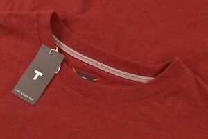 Left Coast Tee NWT Crew Neck Short Sleeve T-Shirt Size XXL in Burnt Red $90