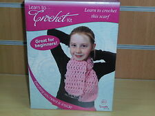 BNIB-The Craft Shop Range-Learn to Crochet Kit-Complete with Pink Yarn and Hook