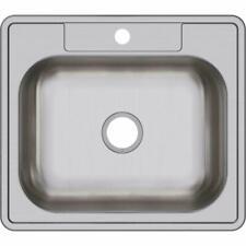 Elkay D125221 22 Gauge Stainless Steel Single Bowl Top Mount KITCHEN SINK NEW