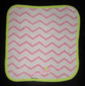 Blankets & Beyond Adorable Elephant Pink Chevron Stripes Baby Girl Blanket