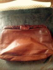 RARE VINTAGE FURLA  leather handbag large clutch ITALY   LAST CHANCE