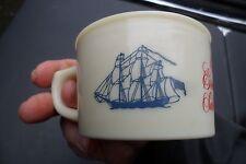 Vintage Old Spice Shaving Soap Mug Shulton Grand Turk Salem 1786 Ship Cup