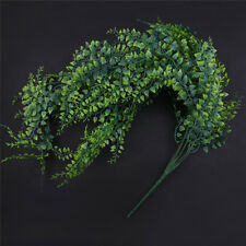 PVC Artificial Greenery Ivy Leaves Garland Hanging Home Garden Wall Decoration