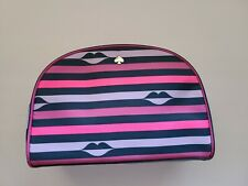 Kate Spade Jae Nylon Lip Print Medium Dome Cosmetic Bag Pink Multi