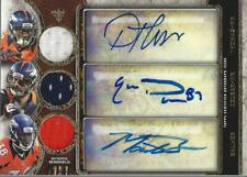2013 Triple Threads Auto Relic Trios Decker/Thomas/ Montee Ball Auto/Jersey/27