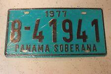 Vintage 1977 PANAMA SOBERANA License Plate 8-41941 Rare Original Tag Rare