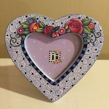 Mary Engelbreit Vintage Ceramic Frame Egg Flowers Heart Shaped 1998