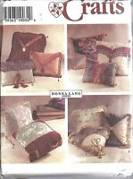 7196 UNCUT Simplicity Sewing Pattern Donna Lang Pillows Square Oblong Mitered FF