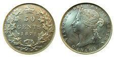 1871  VICTORIA -  CANADA SILVER 50 CENTS