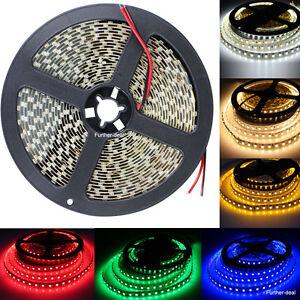 White Red Blue Green 600Leds 3528 Led Strip Lights Lamps 5M SMD DC12V