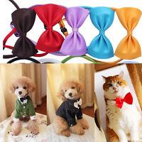 2x Lovely Dog Cat Pet Puppy Toys Kids Cute Bow Tie Necktie Collar Clothes Pop