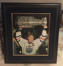 "Wayne Gretzky Signed 31""x 35"" Canvas 'Raising the Cup' Framed Canvas WGA 78/199"