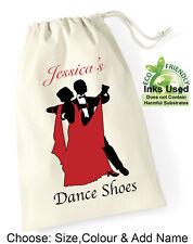 Personalised Ballroom Drawstring Shoe Bag Cotton Girl Adult Dance Shoe Club