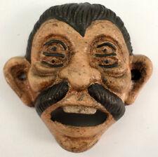Cast Iron 4 Eyed Drunk Boy Man Pepe Wall Mount Stationary Bottle Opener