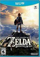 The Legend of Zelda Breath of the Wild Nintendo Wii U Brand New