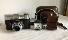 Voigtlander Vitoret Vintage German Camera With Original Leather Case flash