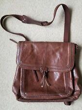 The Sak Ventura Leather Convertible Backpack  Crossbody Shoulder Messenger Bag