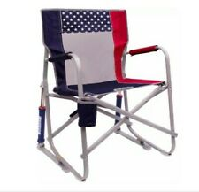 GCI Outdoor Freedom Rocker Chair Camping Folding Rocking Portable Cup Holder USA