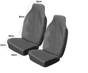 Front Pair Car Covers Protector Slip On Grey Easy Fit Wipe Clean For Daewoo