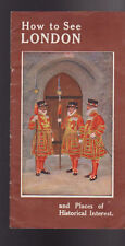 How to See London England & Places of Historical Interest 1930 Booklet