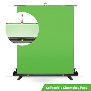 Green Screen Collapsible Retractable Pull Up Chromakey Photo Backdrop Stand