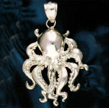 New .925 Sterling Silver Octopus Pendant