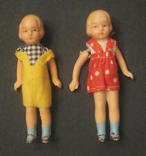"1930-1940'S Lot Of Two (2) 5"" Boy & Girl Japan Bisque Dolls"