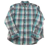 Northwest Territory Plaid, Flannel, Long Sleeve Button Down Shirt, Size Medium