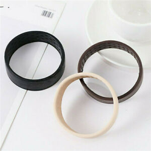 New One Wide Pony Band Clip Wide Pony Hair Band Dark Chocolate Hair Tie Band