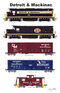 """Detroit & Mackinac 11""""x17"""" Poster by Andy Fletcher signed"""