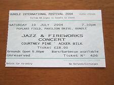 Courtney Pine - Oundle Jazz & Fireworks Concert 10.7.2004 Used Concert Ticket