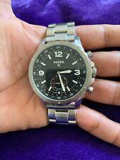 Fossil Q FTW1115 Men's Stainless Steel Analog Black Dial Hybrid Smart Watch KS91