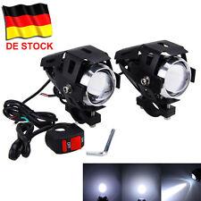 2x Zusatzscheinwerfer Motorrad LED U5 125W Scheinwerfer Fernlicht Lampe YH