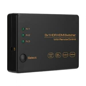 Switcher 2160P Switch Device Aluminium Alloy 3 In 1 Out Switcher For Record/Play