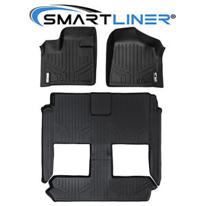 SMARTLINER Floor Mats Liner Set For 2008-2020 Grand Caravan / Town and Country