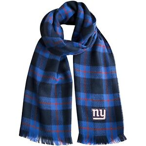 """New York Giants NFL Plaid Blanket Fashion Scarf 75"""" x 30"""" New with Tags"""