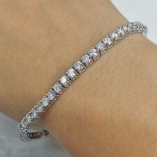 "20.16Ct Round Brilliant Cut Diamond Tennis Bracelet 7 1/2"" 14K Solid White Gold"