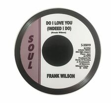 Do I Love You, Indeed I Do Frank Wilson Record Label Vinyl Sticker Decal CD17