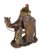 Vienna Cold Painted Bronze Carpet Seller w/Camel -Rare Table Lighter -c1900s