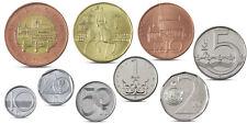 CZECH REPUBLIC 9 COINS SET 1 H - 50 KORUN BIMETALLIC 1996 - 2012 UNC