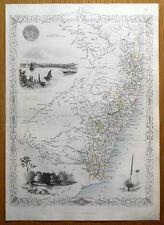 NEW SOUTH WALES, AUSTRALIA, RAPKIN & TALLIS original antique map c1850