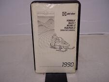 1990 Ski Doo Formula Mach 1 MX MX LT Plus Plus LT Operators Manual OEM 414683000