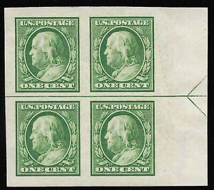 Mr B's US Stamp #383 1910 Benjamin Franklin Block of 4  - MH OG - FREE SHIPPING