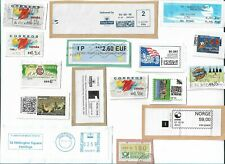 World  ATM - Automatic machine labels type postage stamps x 28 (Batch 2)