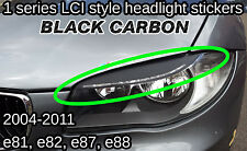 BMW 1 series LCI Style CARBON Vinyl Headlight Eyebrow Sticker angel eye depo